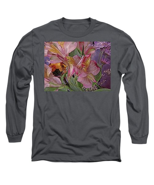 Lily Profusion 7 Long Sleeve T-Shirt by Lynda Lehmann