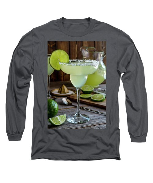 Long Sleeve T-Shirt featuring the photograph Lime Margaritas by Teri Virbickis