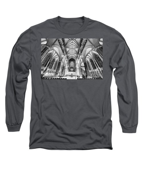 Lincoln Cathedral Bw Long Sleeve T-Shirt by Jack Torcello