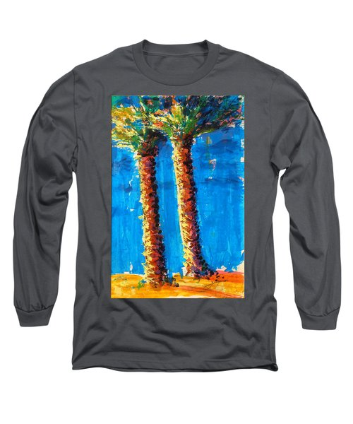 Lincoln Rd Date Palms Long Sleeve T-Shirt