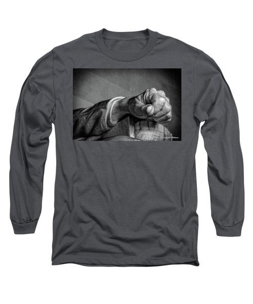 Lincoln's Left Hand B-w Long Sleeve T-Shirt by Christopher Holmes
