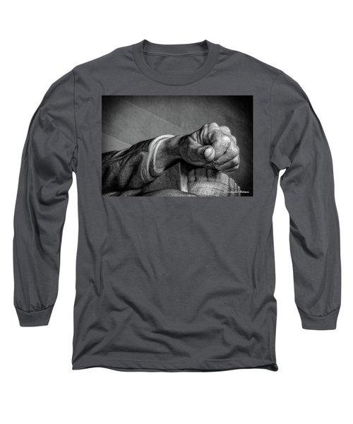 Lincoln's Left Hand B-w Long Sleeve T-Shirt