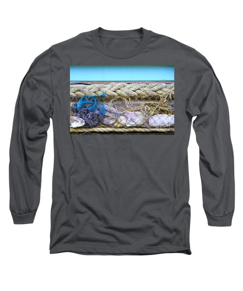 Long Sleeve T-Shirt featuring the photograph Line Of Debris II by Stephen Mitchell