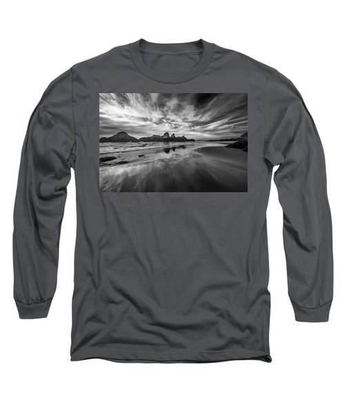 Lines In The Sand At Seal Rock Long Sleeve T-Shirt