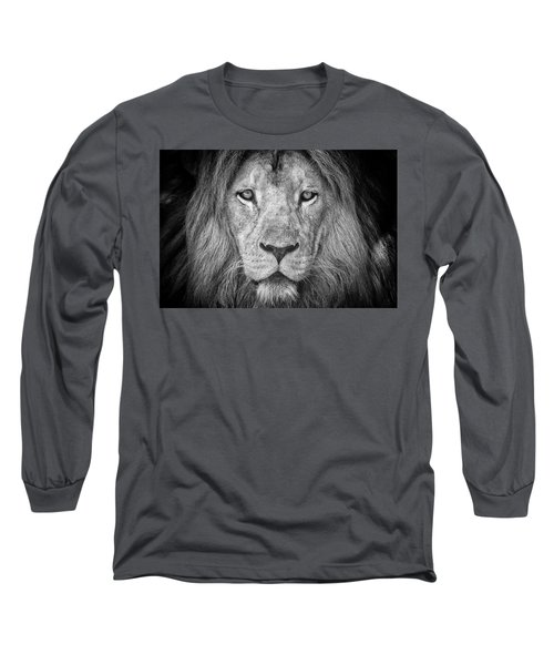 Long Sleeve T-Shirt featuring the photograph Lion 5716 by Traven Milovich