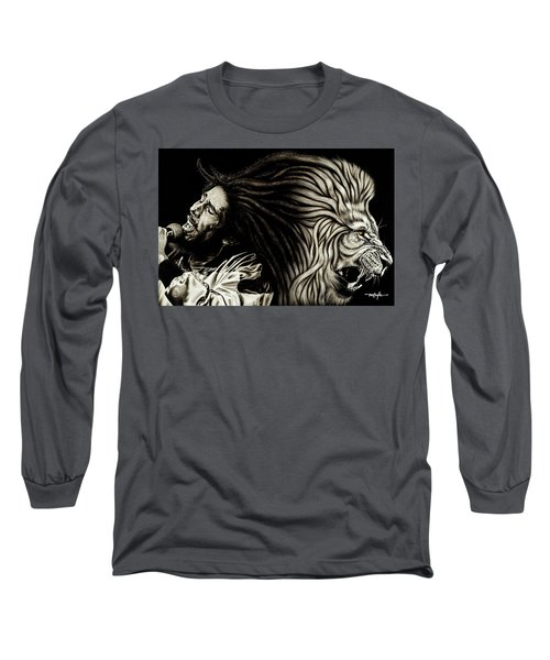 Lion Heart -bob Marley Long Sleeve T-Shirt