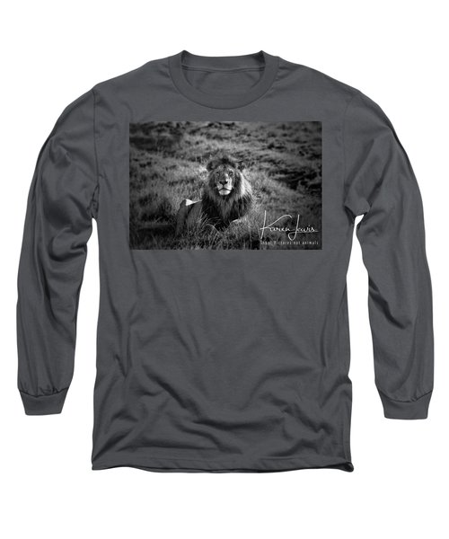 Long Sleeve T-Shirt featuring the photograph Lion King by Karen Lewis