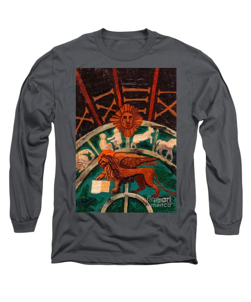 Long Sleeve T-Shirt featuring the painting Lion Of St. Mark by Genevieve Esson