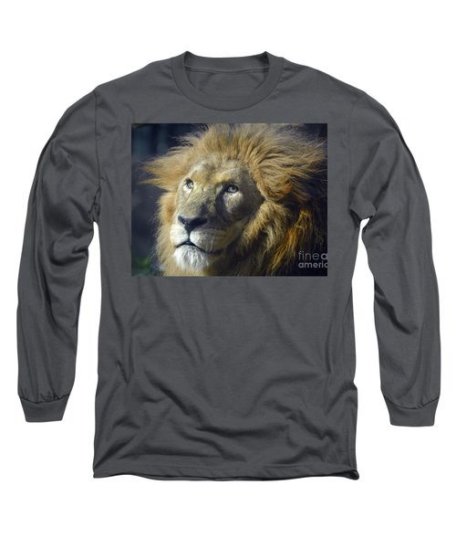 Long Sleeve T-Shirt featuring the photograph Lion Portrait by Savannah Gibbs