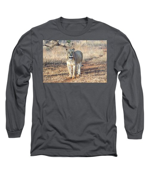 Lioness In Kruger Long Sleeve T-Shirt by Pravine Chester