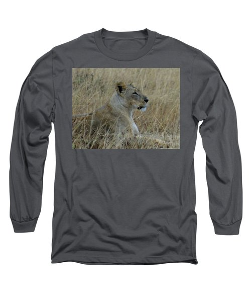 Lioness In The Grass Long Sleeve T-Shirt
