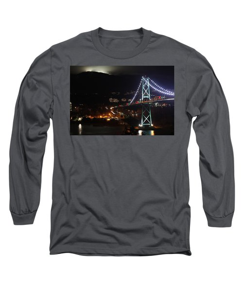 Lions Gate Bridge And Grouse Mountain Long Sleeve T-Shirt