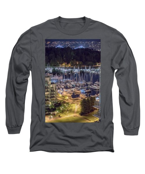 Lions Gate Bridge And Stanley Park Long Sleeve T-Shirt by Ross G Strachan