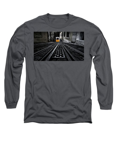 Lisbon Tram Long Sleeve T-Shirt by Jorge Maia