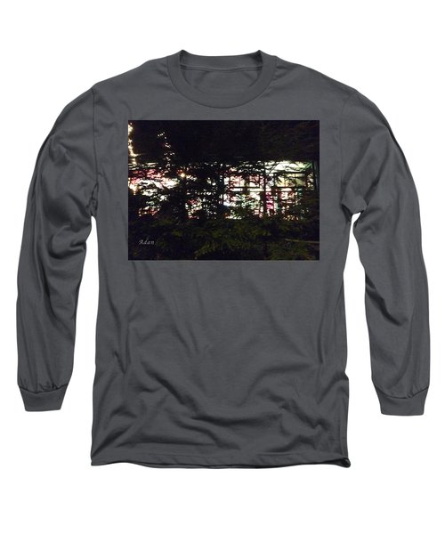 Lit Like Stained Glass Long Sleeve T-Shirt by Felipe Adan Lerma