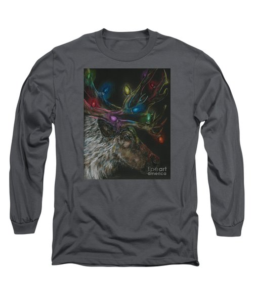 Long Sleeve T-Shirt featuring the drawing Lit Up by Meagan  Visser