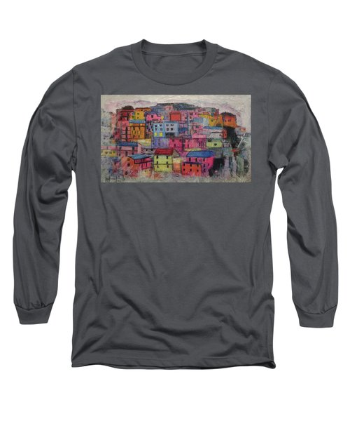 Little Boxes 2016 Long Sleeve T-Shirt by Ron Richard Baviello
