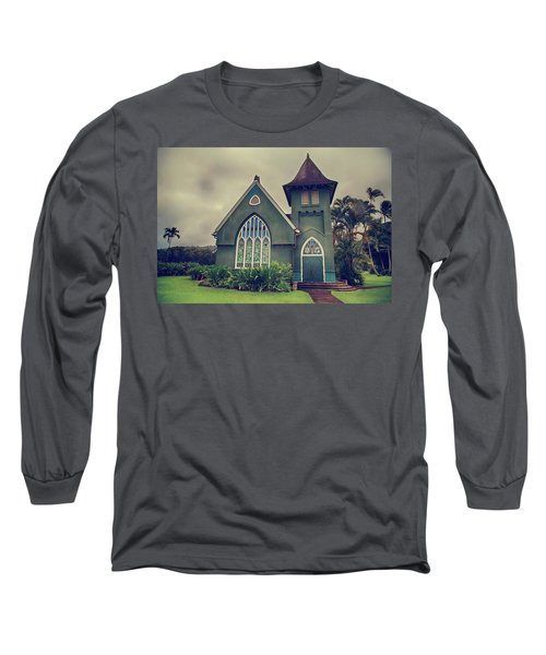 Long Sleeve T-Shirt featuring the photograph Little Green Church by Laurie Search