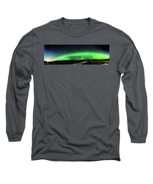 Little House Under The Aurora Long Sleeve T-Shirt