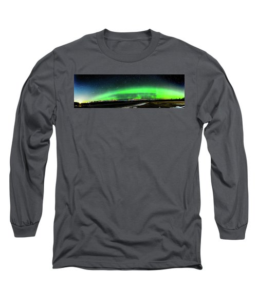 Little House Under The Aurora Long Sleeve T-Shirt