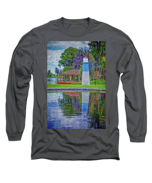 Long Sleeve T-Shirt featuring the photograph Little Lake Lightouse by Lewis Mann