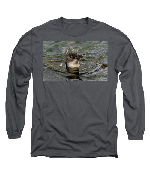 Little Penguin In The Water Long Sleeve T-Shirt