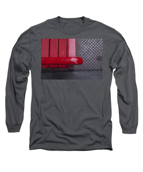 Little Red Bench Long Sleeve T-Shirt by Henri Irizarri