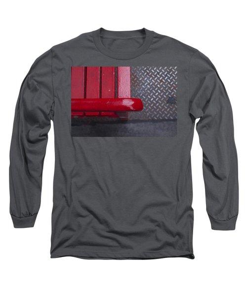 Little Red Bench Long Sleeve T-Shirt