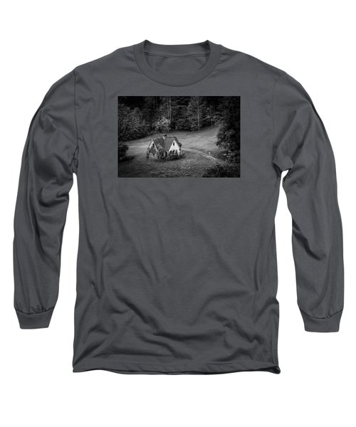 Long Sleeve T-Shirt featuring the photograph Little Victorian House In The Mountains by Kelly Hazel