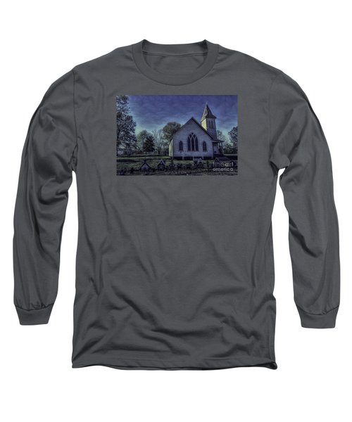 Little White Church Long Sleeve T-Shirt by Ken Frischkorn