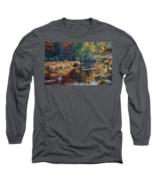 Little Wolf Canoist Long Sleeve T-Shirt