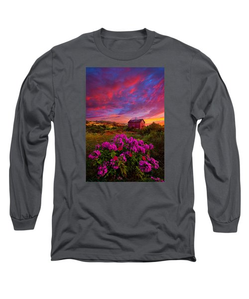 Live In The Moment Long Sleeve T-Shirt by Phil Koch