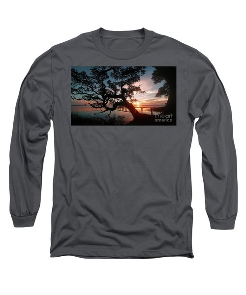 Long Sleeve T-Shirt featuring the photograph Live Oak Sunrise by Benanne Stiens