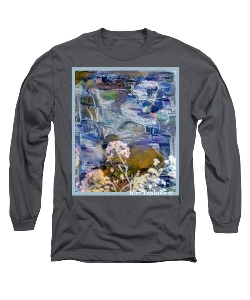 Long Sleeve T-Shirt featuring the mixed media Living It by Ray Tapajna