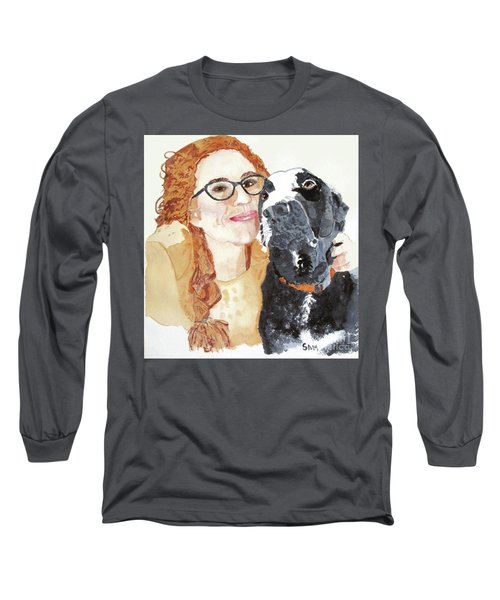 Livvy And Amos Long Sleeve T-Shirt by Sandy McIntire