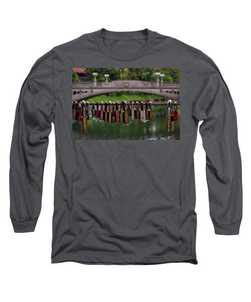 Long Sleeve T-Shirt featuring the photograph Ljubljana Love Locks - Slovenia  by Stuart Litoff