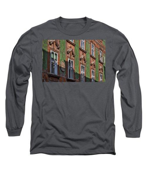 Long Sleeve T-Shirt featuring the photograph Ljubljana Windows #2 - Slovenia by Stuart Litoff