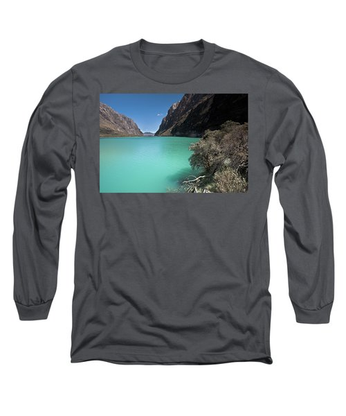 Llanganuco Lakes In Cordillera Blanca Long Sleeve T-Shirt