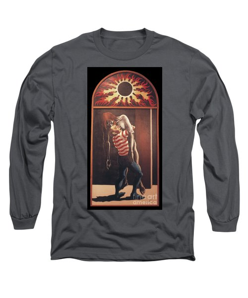 Long Sleeve T-Shirt featuring the painting Llego' Con Tres Heridas by William Hart McNichols