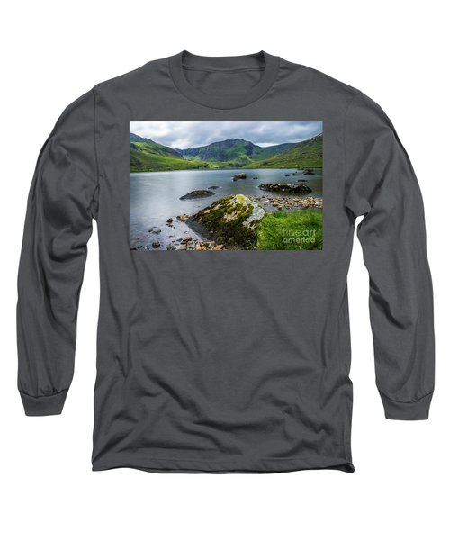 Llyn Ogwen Glyder Fawr Long Sleeve T-Shirt by Ian Mitchell