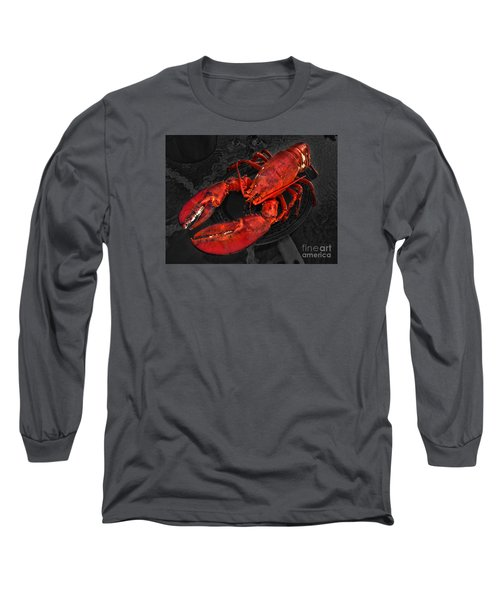 Long Sleeve T-Shirt featuring the photograph Lobstah by William Fields