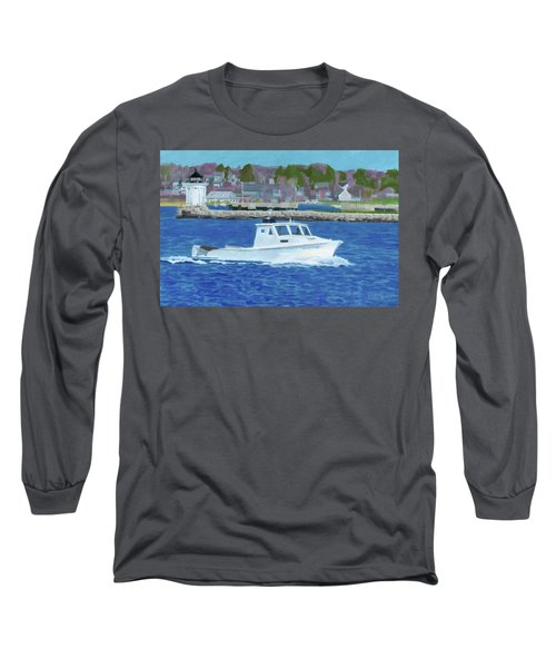 Lobster Boat And Bug Light Long Sleeve T-Shirt