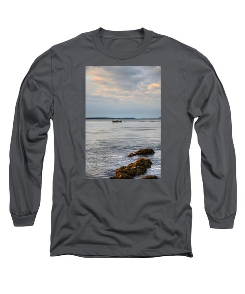 Lobsterboat Freedom II - Bass Harbor, Maine Long Sleeve T-Shirt