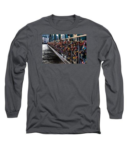 Locks Of Lock Bridge Long Sleeve T-Shirt by Alpha Wanderlust