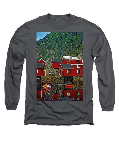 Lofoten Fishing Huts Long Sleeve T-Shirt