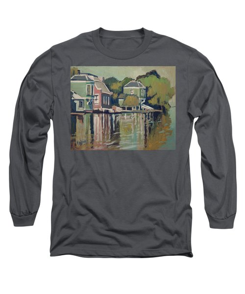 Lofts Along The River Zaan In Zaandam Long Sleeve T-Shirt by Nop Briex