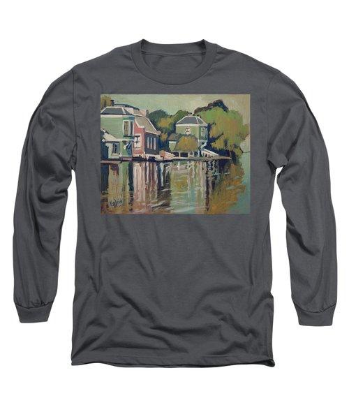 Lofts Along The River Zaan In Zaandam Long Sleeve T-Shirt by Nop Briex