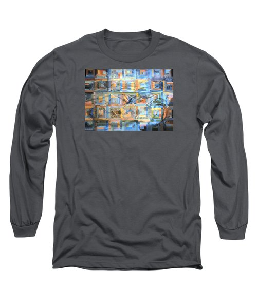 Log Cabin Quilt Long Sleeve T-Shirt by Dawn Senior-Trask