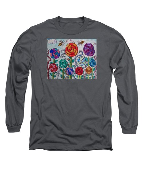 Lollipop Garden Long Sleeve T-Shirt by Megan Walsh