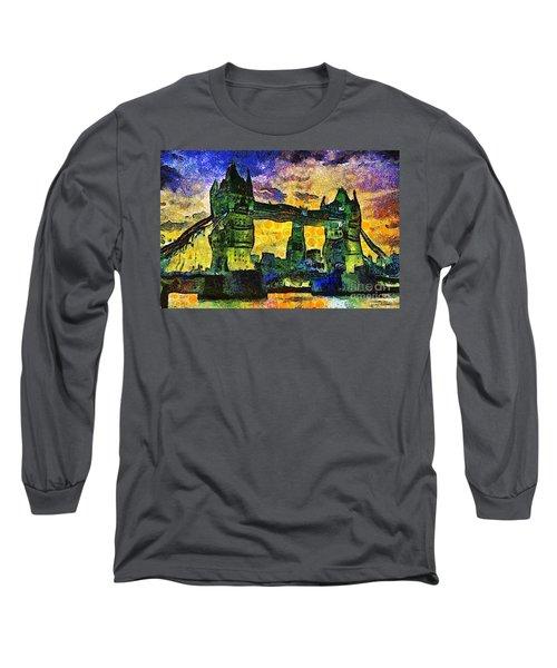 London Bridge Long Sleeve T-Shirt by Ian Mitchell